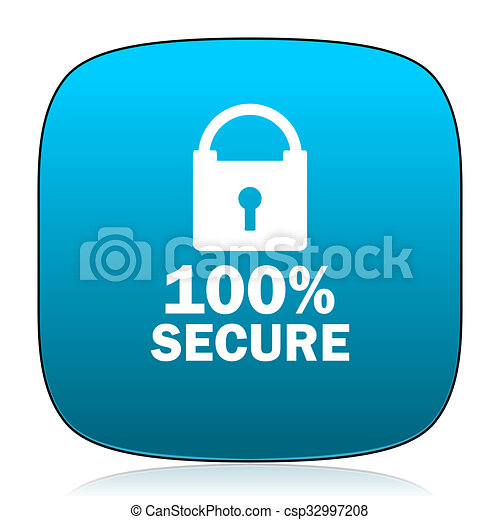 secure blue icon - csp32997208