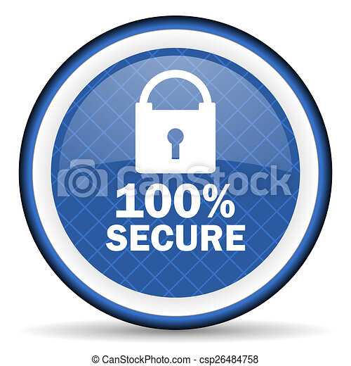 secure blue icon - csp26484758