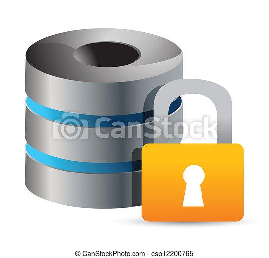 secure Computer database illustrati - csp12200765