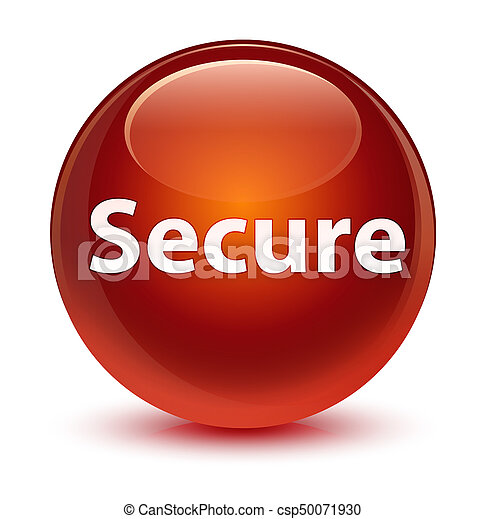Secure glassy brown round button - csp50071930