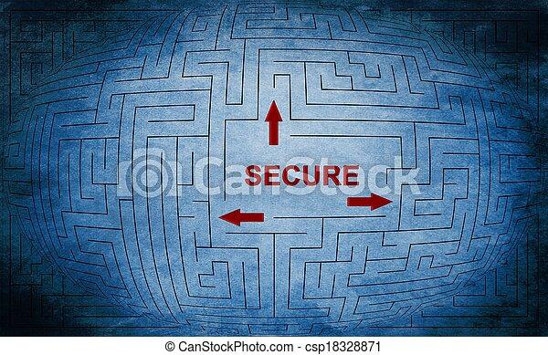 Secure maze concept - csp18328871