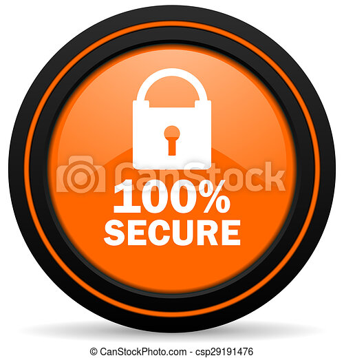 secure orange icon - csp29191476