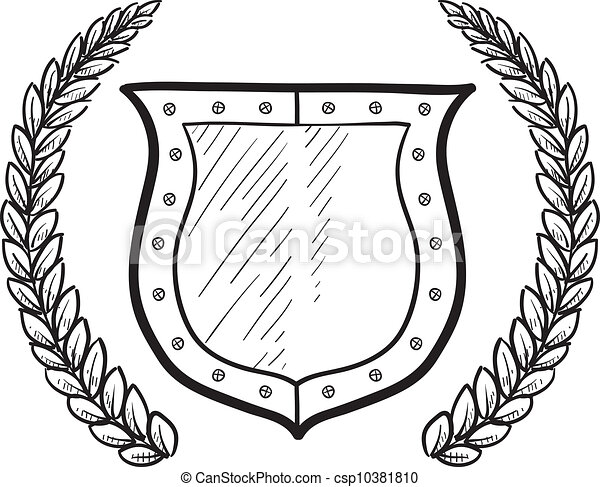 Secure shield or blank heraldry - csp10381810