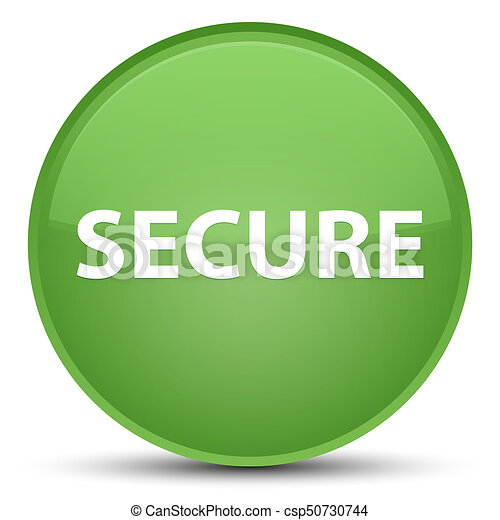 Secure special soft green round button - csp50730744