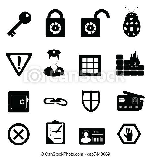 Security and safety icon set - csp7448669