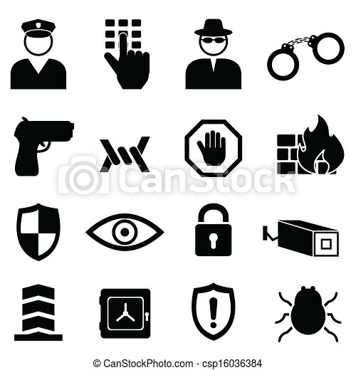Security and safety icon set - csp16036384