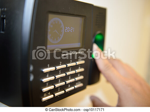 Security and time checking machine for worker - csp10117171