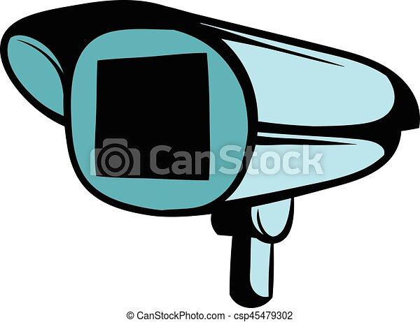 Security Camera Icon Cartoon Security Camera Icon In Cartoon Style