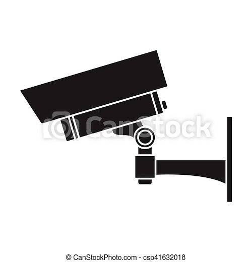 Security Camera Icon In Black Style Isolated On White Vector Clip