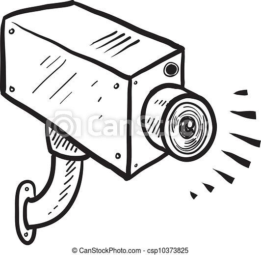 Security camera sketch - csp10373825