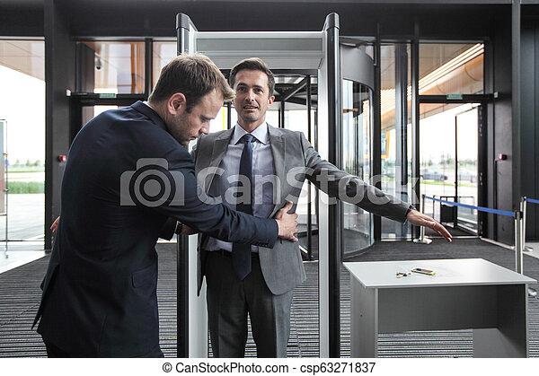 Security check businessman - csp63271837