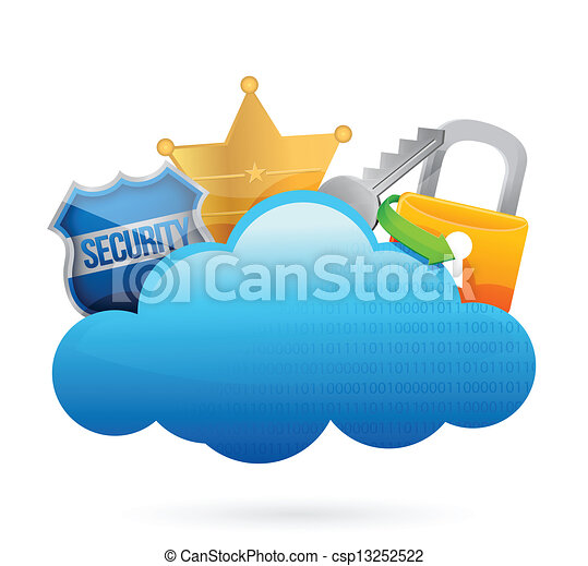 security cloud computing concept illustration design over vector rh canstockphoto com cloud computing clipart cloud computing clipart free