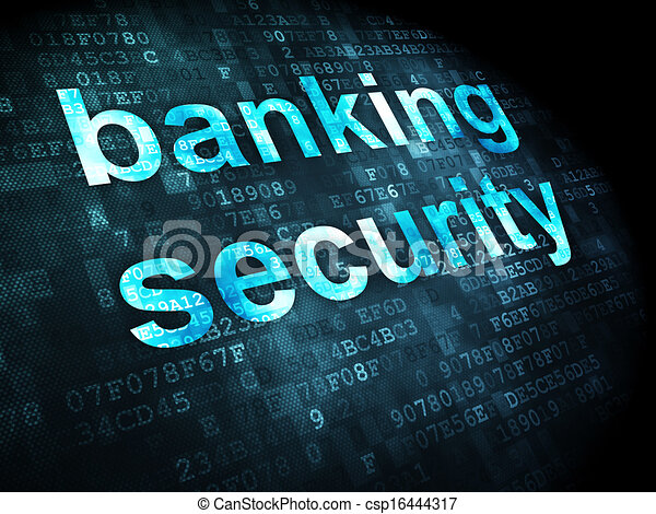 Security concept: Banking Security on digital background - csp16444317