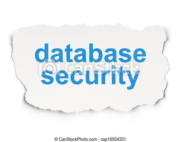 Security concept: Database Security on Paper background - csp16554331