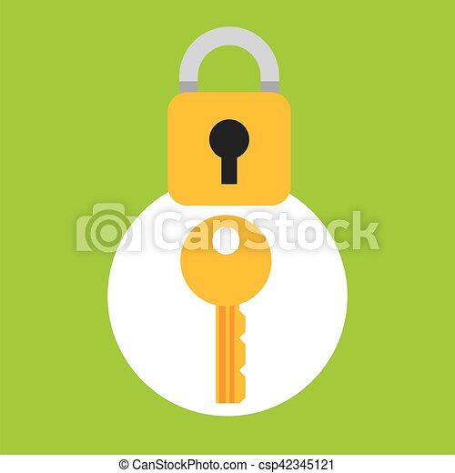 security concept hand with key - csp42345121