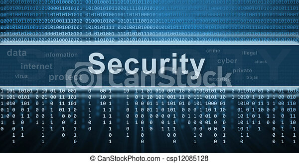Security concept. Technology background - csp12085128