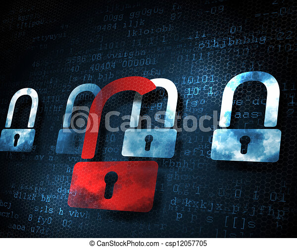 security concept  with a lock - csp12057705