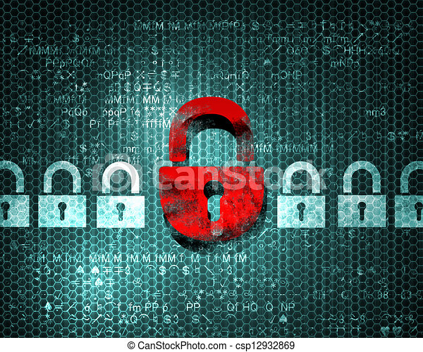 security concept  with a lock - csp12932869