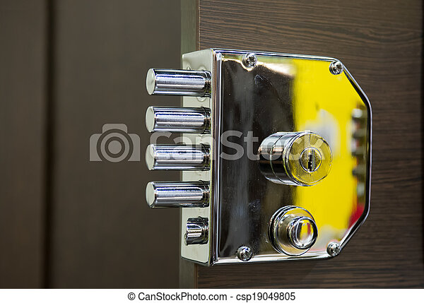 Security door lock - csp19049805
