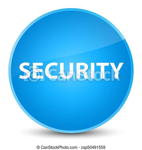 Security elegant cyan blue round button - csp50491559