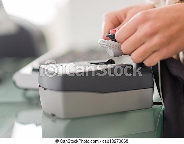 Security Equipment In Retail Store - csp13270068