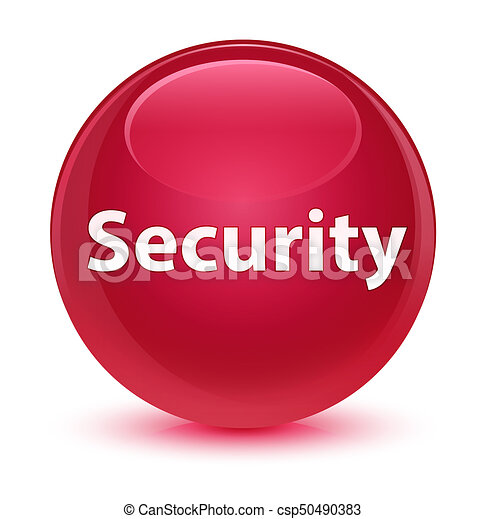 Security glassy pink round button - csp50490383