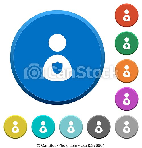 security guard beveled buttons security guard round color clip rh canstockphoto com clipart sewing buttons clipart buttons free