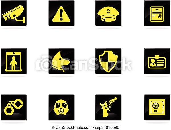 Security icons set - csp34010598