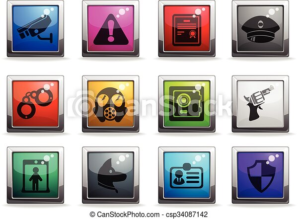 Security icons set - csp34087142