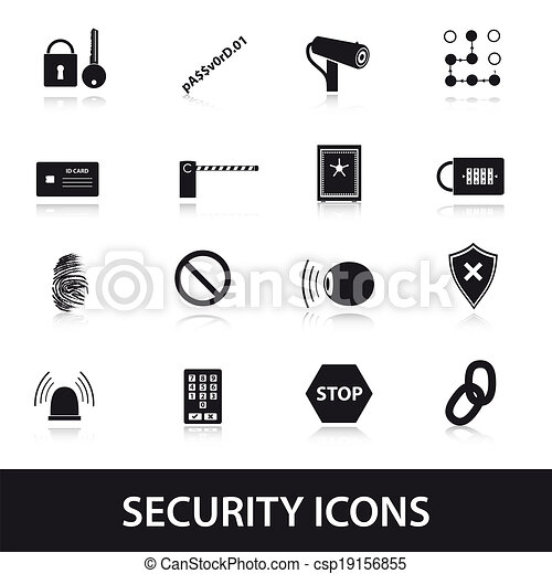 security icons set eps10 - csp19156855