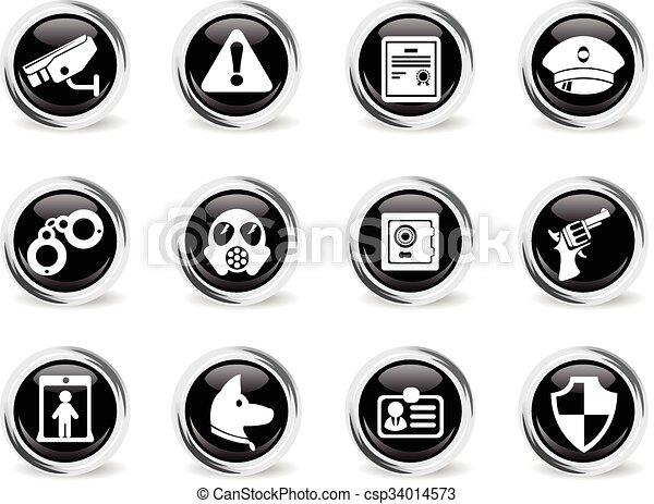 Security icons set - csp34014573
