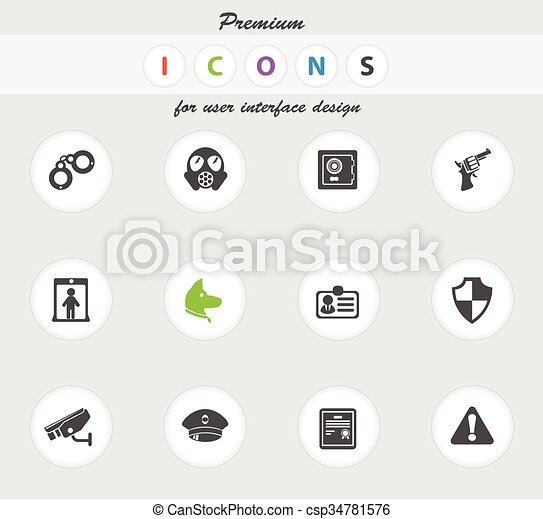 Security icons set - csp34781576