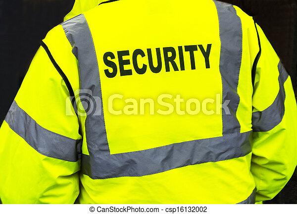 Security Jacket closeup - csp16132002