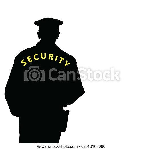 security man color vector - csp18103066