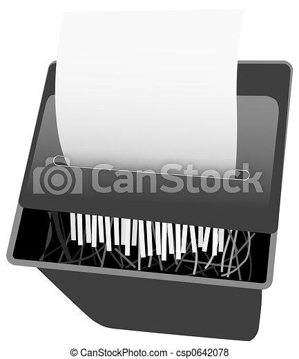 Security Paper Shredder - csp0642078