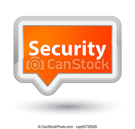 Security prime orange banner button - csp50730525