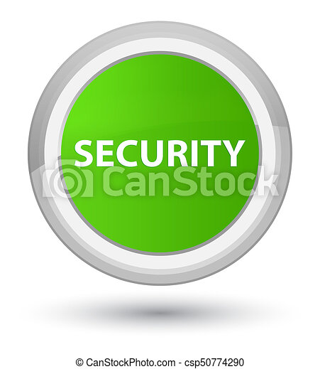 Security prime soft green round button - csp50774290