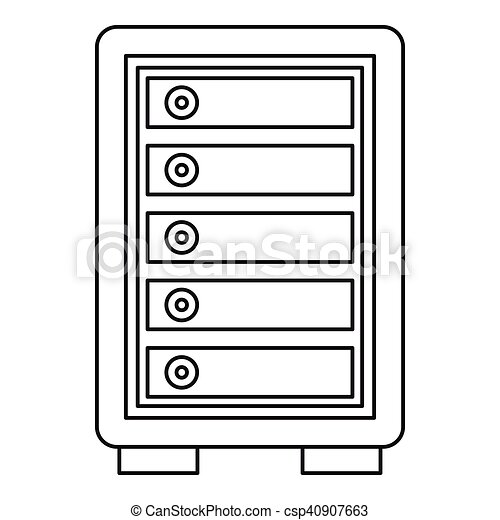 security safe locker icon outline style security safe clip art rh canstockphoto com locker clipart locker clipart black and white