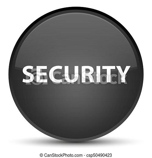 Security special black round button - csp50490423