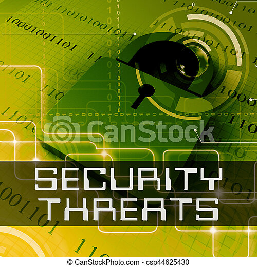 Security Threats Means Unauthorized Menace 3d Rendering - csp44625430