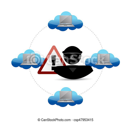security warning hacker access to cloud computing clipart rh canstockphoto com  cloud computing clipart free