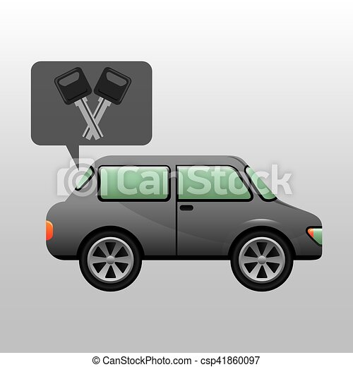 sedan car keys design - csp41860097