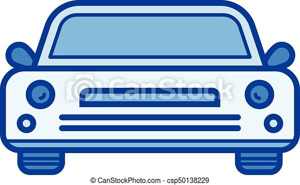 Sedan Car Line Icon