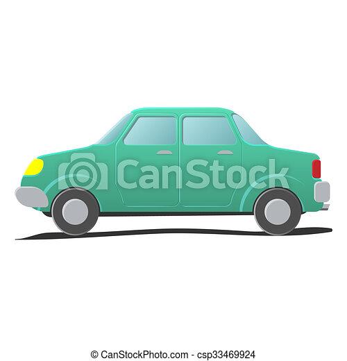 Sedan. Cartoon illustration - csp33469924