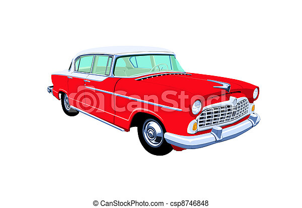 sedan, fifties - csp8746848