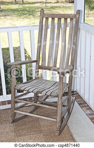 sedia dondolo, veranda