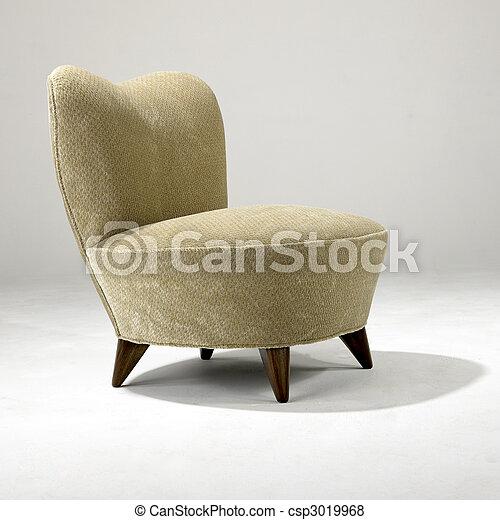 sedia, moderno, mezzo, secolo - csp3019968