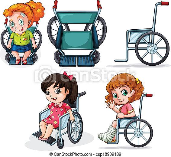 Sedie rotelle differente sfondo bianco illustrazione for Vecchio in sedia a rotelle