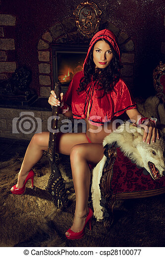 Sexy red ridding hood