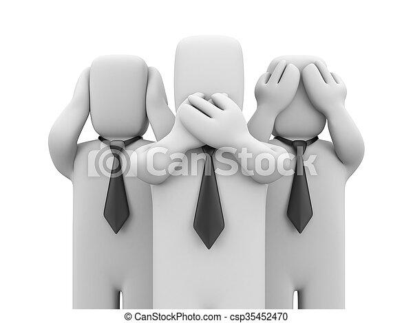 See no evil, hear no evil, speak no evil - csp35452470